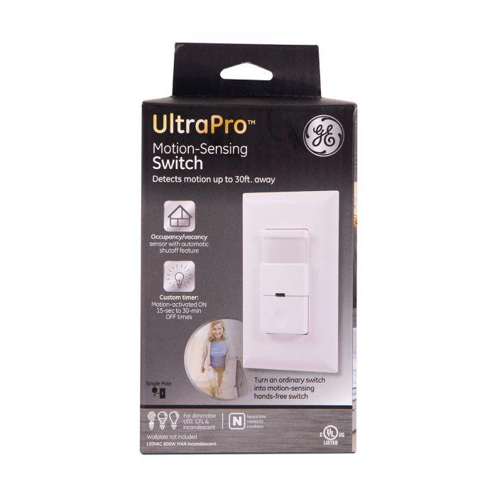 Ge Ultrapro In Wall Motion Sensing Switch White
