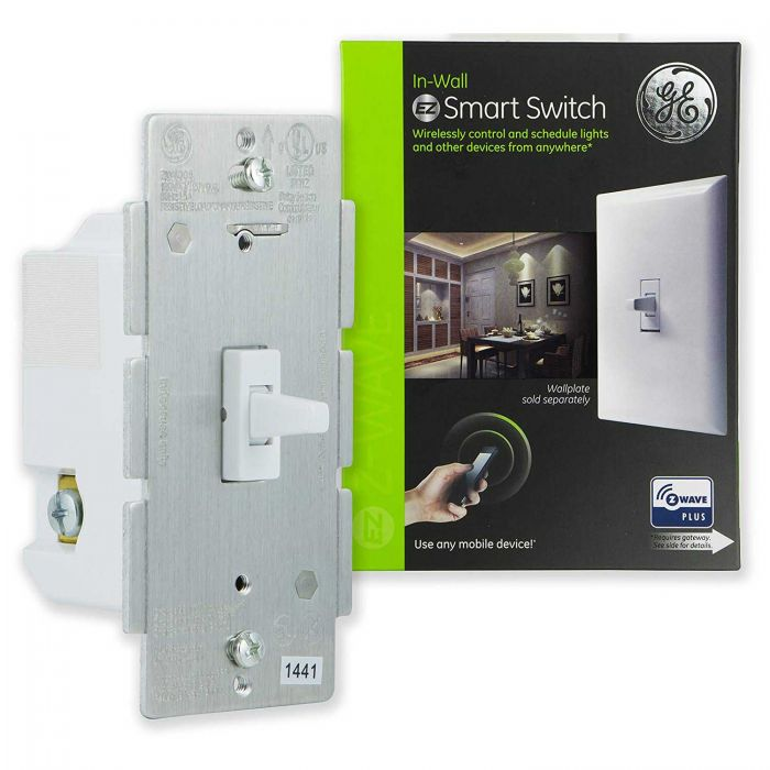 Z-Wave Plus Wireless Smart In-Wall Light Switch