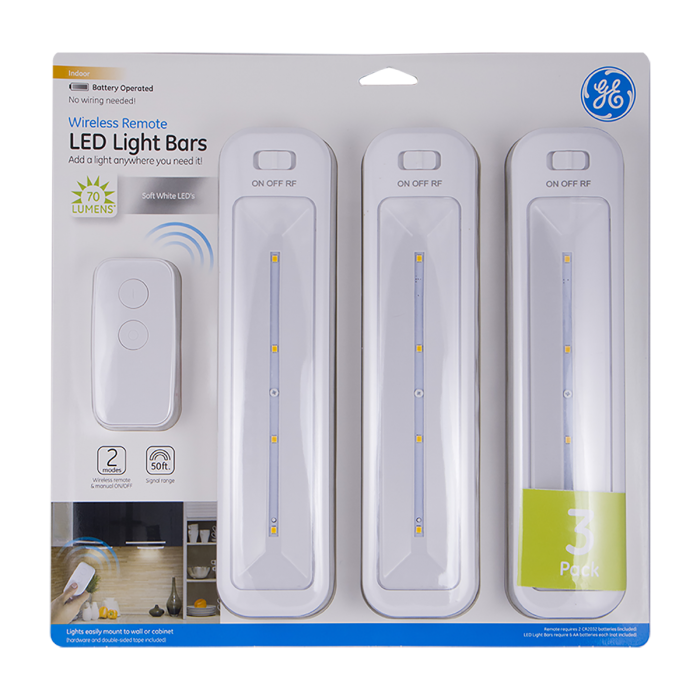 Ge Battery Operated Led Light Bars With