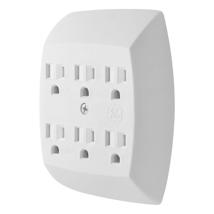 Tap Duplex To 6outlet Gnd Wht