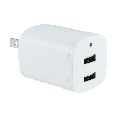 GE 2-USB Charging Wall Tap, White