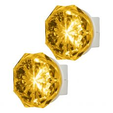Lights by Night Jewel Always On Soft Amber LED Night Light, White, 2 Pack