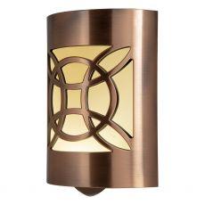 GE CoverLite Celtic Design Automatic LED Night Light, Oil-Rubbed Bronze