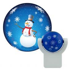 Projectables Snowman Light Sensing LED Night Light