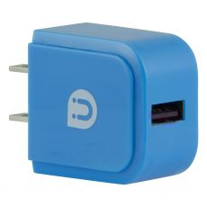 Uber 1-USB Charging Wall Tap, Blue