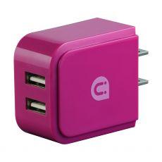 Uber 2-USB Wall Charger, Pink