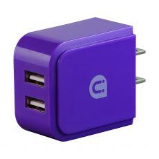 Uber 2-USB Wall Charger, Purple