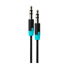 Uber 3 ft. 3.5mm Auxiliary Audio Cable, Black/Blue