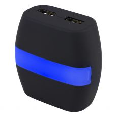 GE 2-USB LED Night Light Charging Station, Black