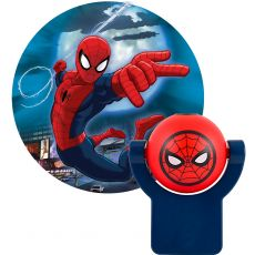 Projectables Marvel Ultimate Spider-Man Light Sensing LED Night Light, Blue