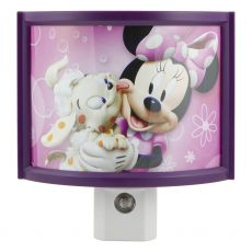 Disney Minnie Mouse Light Sensing LED Night Light, Purple
