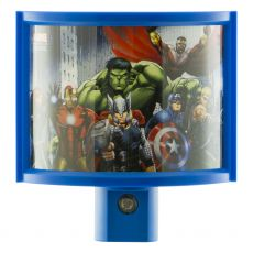 Marvel Avengers LED Light-Sensing Wrap Shade Night Light, Blue