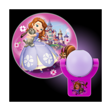 Projectables Disney Sofia the First Light Sensing LED Night Light