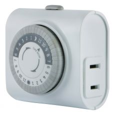 GE 24-Hour Indoor Plug-In Mechanical Timer, White