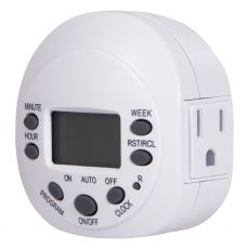 GE 1-Outlet 7-Day Digital Timer, White