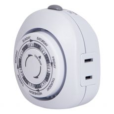 GE 1-Outlet 7-Day Mechanical Timer, White