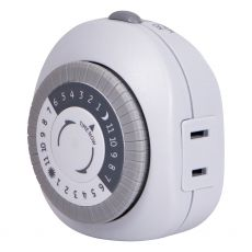 GE 24-Hour 1-Outlet Indoor Plug-In Mechanical Timer, White