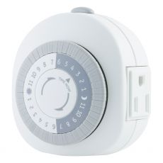 GE 24-Hour 1-Outlet Indoor Plug-In Heavy Duty Mechanical Timer, White