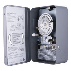 GE 24-Hour Indoor Mechanical Water Heater Time Switch, Black