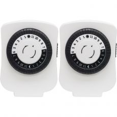 GE 24-Hour Indoor Plug-In Basic Timer, White, 2 Pack