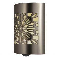 GE CoverLite Floral Automatic LED Night Light, Brushed Nickel