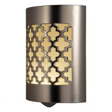 GE CoverLite Moroccan Automatic LED Night Light, Brushed Nickel