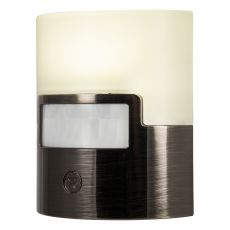GE UltraBrite Motion Activated LED Night Light, Brushed Nickel