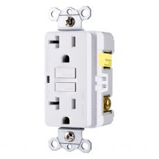 GE UltraPro GFCI Receptacle, White