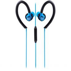 Uber Active Over Ear Earbuds with Microphone, Blue