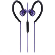 Uber Active Over Ear Earbuds with Microphone, Purple