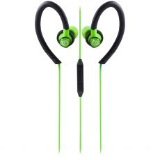 Uber Active Over Ear Earbuds with Microphone, Green