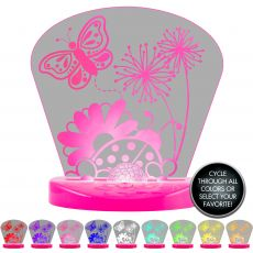 Lights by Night Butterfly Color-Changing LED Tabletop Night Light, Pink