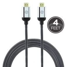 GE UltraPro Premium 4 ft. HDMI Cable with Ethernet, Silver