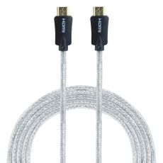 GE Pro Premium 6 ft. HDMI Cable with Ethernet, Silver