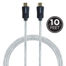 GE Pro 10ft. 4K HDMI Cable with Ethernet, Gray