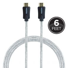 GE Pro Premium 6ft. 4K HDMI Cable with Ethernet, Black