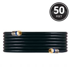 GE 50ft. RG6 Quad-Shield Coaxial Cable, Black