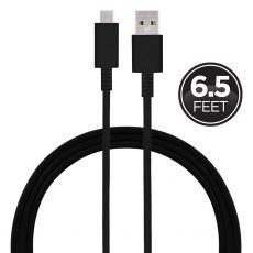 GE 6.5ft. USB-A to USB-C Charging Cable, Black