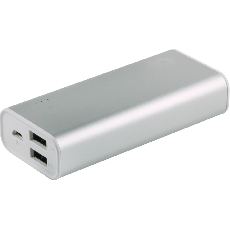 Power Gear 2-USB Charging Battery Pack, 6700mAh, Gray
