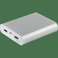 Power Gear 2-USB Charging Battery Pack, 13400mAh, Gray