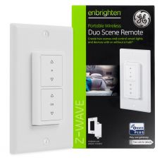 GE Enbrighten Z-Wave In-Wall Portable Duo Scene Remote, White