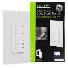 GE Enbrighten Z-Wave In-Wall Portable Quad Scene Remote, White