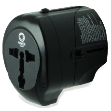 Power Gear International Travel Adapter with USB Passive Connector, Black