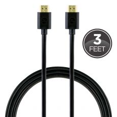 GE 3ft. HDMI Cable with Ethernet, Black