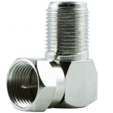 GE Right Angle F Connector, Silver