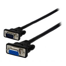 GE 10 ft. Extension VGA SVGA Cable, Black