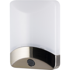 GE Color-Changing Automatic LED Night Light, Brushed Nickel