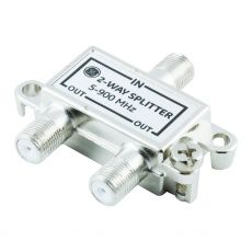 GE 2-Way Signal Splitter, Silver