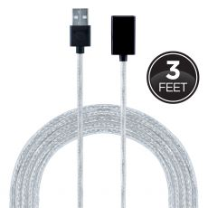GE 3ft. 2-in-1 Micro USB Charging Cable with Lightning Adapter, Silver