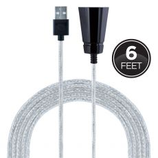 GE 6ft. USB-A Tabletop Extension Cable, Black